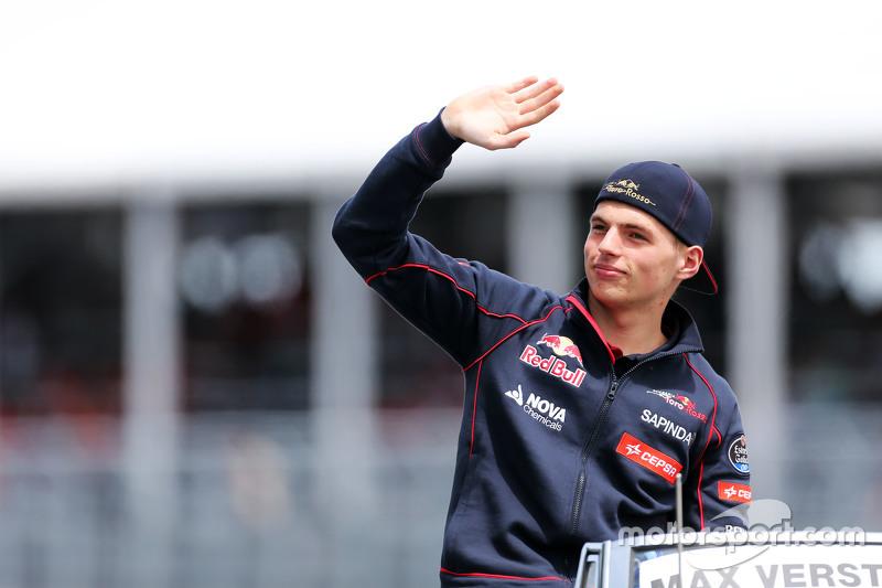 Max Verstappen, Scuderia Toro Rosso di drivers parade