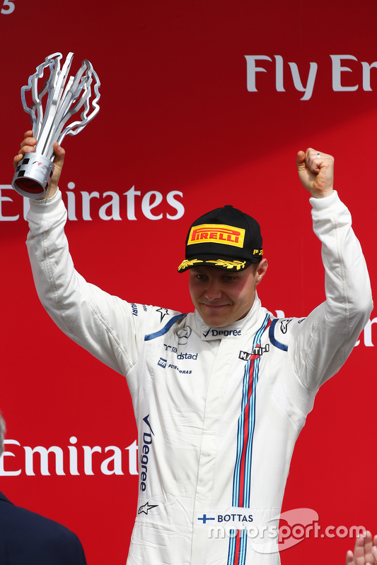 Podium: Third place Valtteri Bottas, Williams FW37