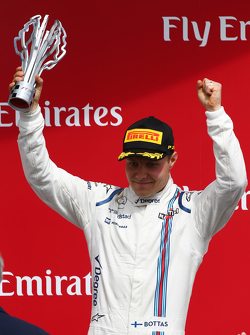 Podium: Third place Valtteri Bottas, Williams FW38