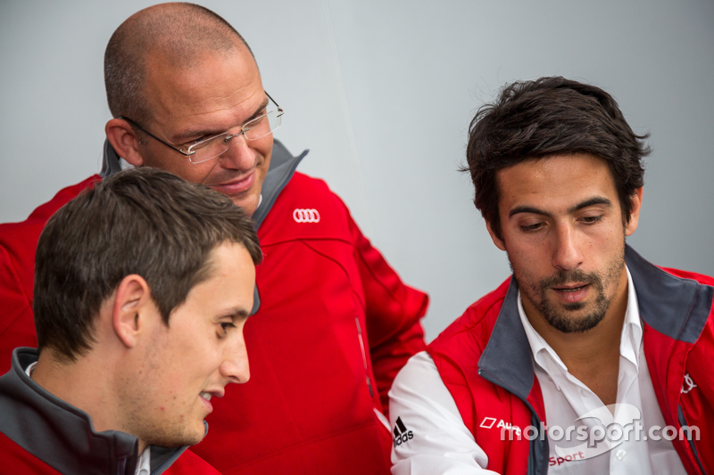 Audi Sport Team Joest: Lucas di Grassi und Oliver Jarvis mit Chris Reinke