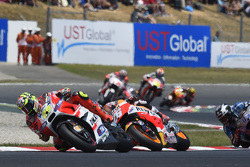 Andrea Iannone, Ducati Team y Dani Pedrosa, Repsol Honda Team con Scott Redding, Marc VDS Racing Hon