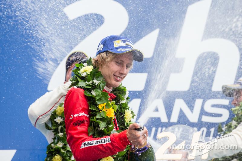 LMP1-Podium: Champagner für Brendon Hartley