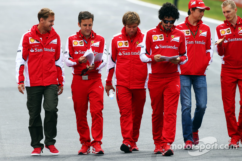 Sebastian Vettel, Ferrari, beim Trackwalk