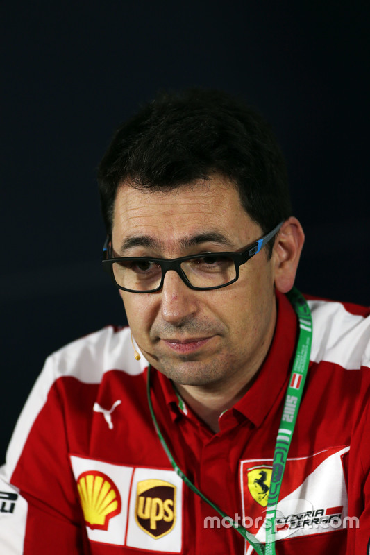 Mattia Binotto, Ferrari Race Engine Manager in the FIA Press Conference