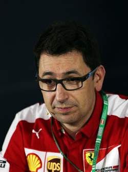 Mattia Binotto, Ferrari Race Engine Manager alla Conferenza Stampa FIA