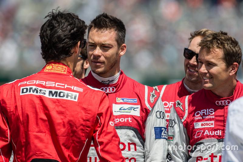 Mark Webber wünscht André Lotterer und Marcel Fässler viel Erfolg