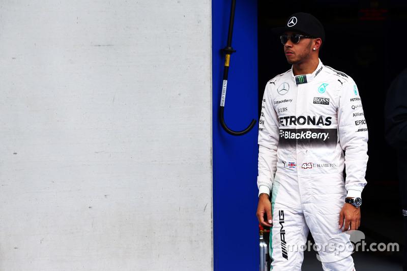 Pole-Sitter: Lewis Hamilton, Mercedes AMG F1, im Parc Fermé