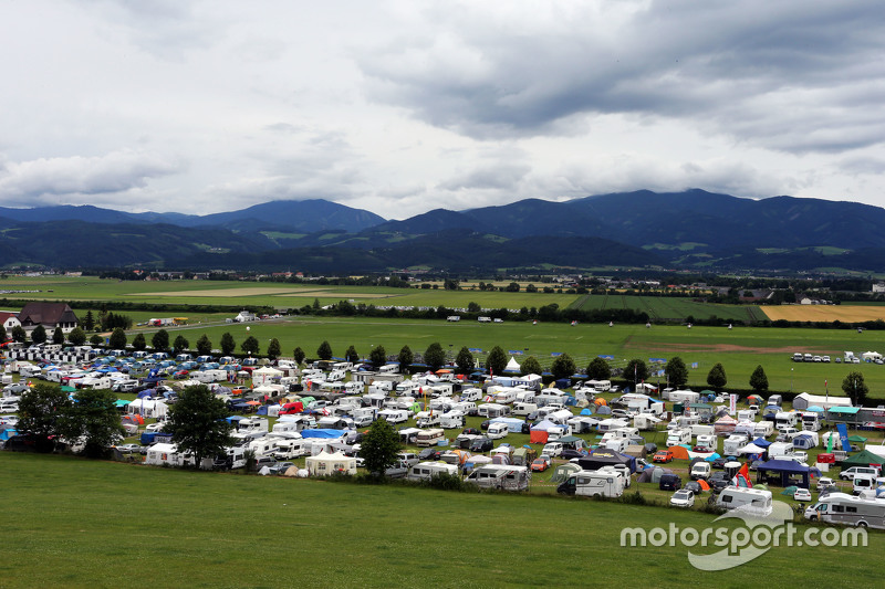 A campsite near the circuit