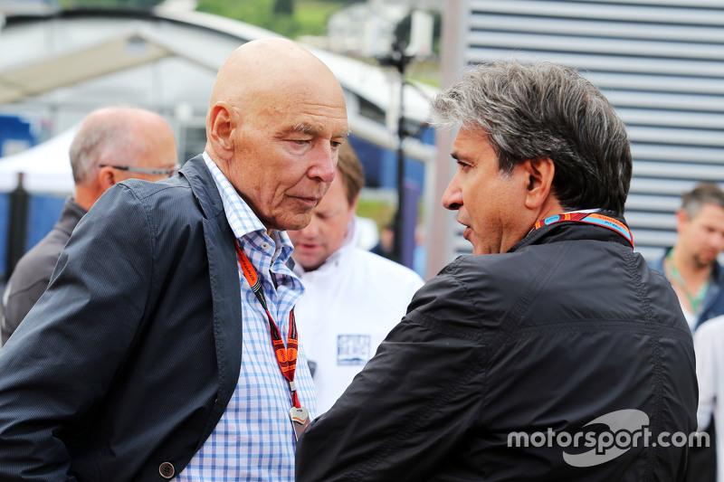 Peter Brabeck-Letmathe, Formel-1-Vorsitzender, mit Pasquale Lattuneddu, FOM