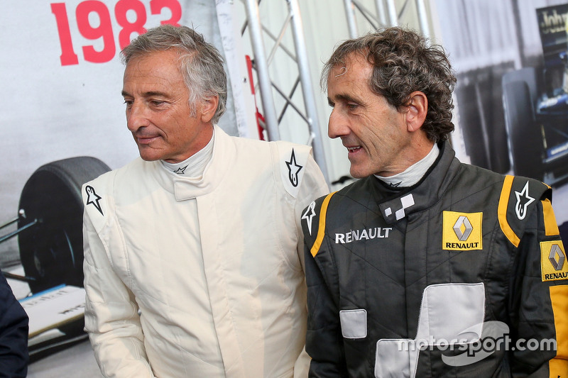 Riccardo Patrese, e Alain Prost, alla Parata delle Leggende