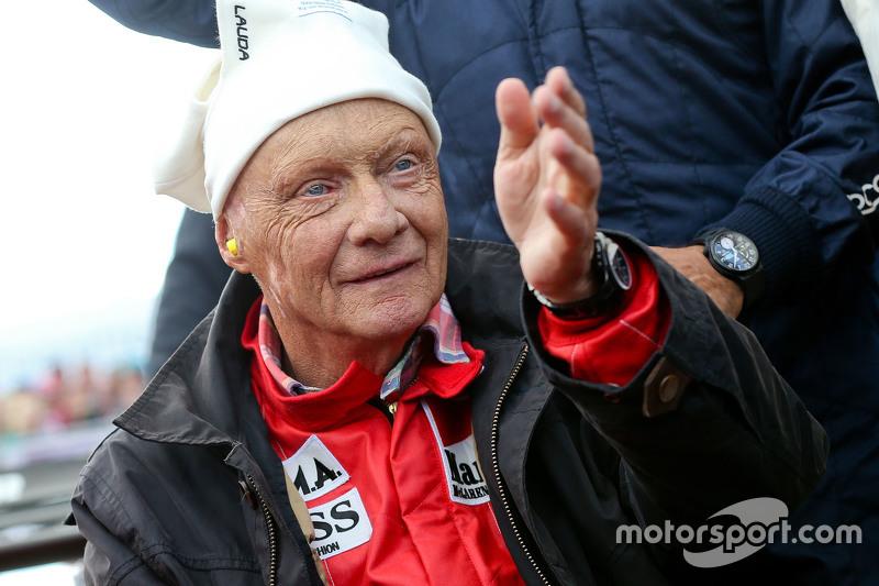 Niki Lauda, lors de la parade des Légendes