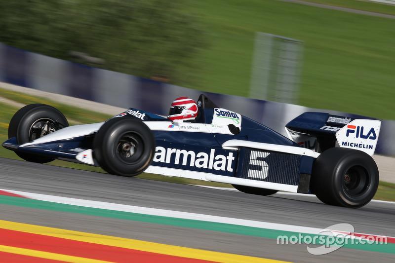 Нельсон Піке, в Brabham BT52 на Параді Легенд