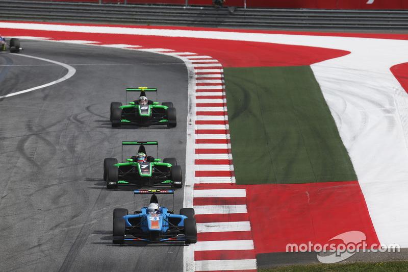 Matheo Tuscher, Jenzer Motorsport, vor Seb Morris, Status Grand Prix