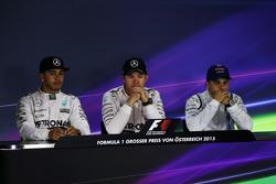 Conferencia de prensa de la FIA: Lewis Hamilton, Mercedes AMG F1; Nico Rosberg, Mercedes AMG F1; Felipe Massa, Williams.