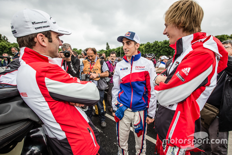Romain Dumas, Sébastien Buemi and Brendon Hartley