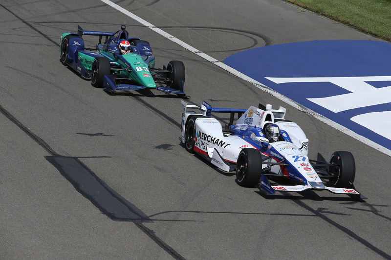 Marco Andretti, Andretti Autosport, Honda, und Charlie Kimball, Chip Ganassi Racing, Chevrolet