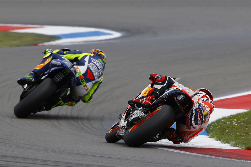 Valentino Rossi, Yamaha Factory Racing y Marc Marquez, Repsol Honda Team