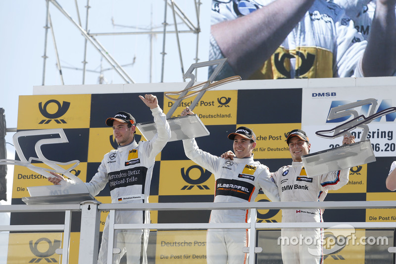 Podium, 2nd Christian Vietoris, HWA AG Mercedes-AMG C63 DTM, 1st Robert Wickens, HWA AG Mercedes-AMG C63 DTM, 3rd Bruno Spengler, BMW Team MTEK BMW M4 DTM