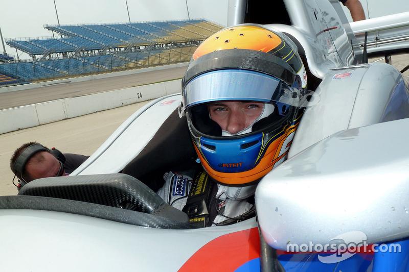 Меттью Бребем тестує an Andretti Autosport IndyCar