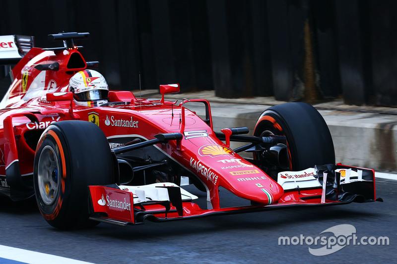 Sebastian Vettel, Ferrari SF15-T, Frontflügel