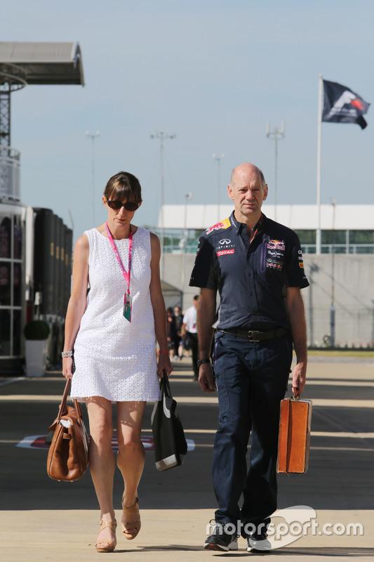 Adrian Newey, Chefdesigner Red Bull Racing, mit seiner Frau Marigold Newey