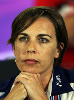 Claire Williams, Williams Deputy Team Principal dalam Konferensi Pers FIA