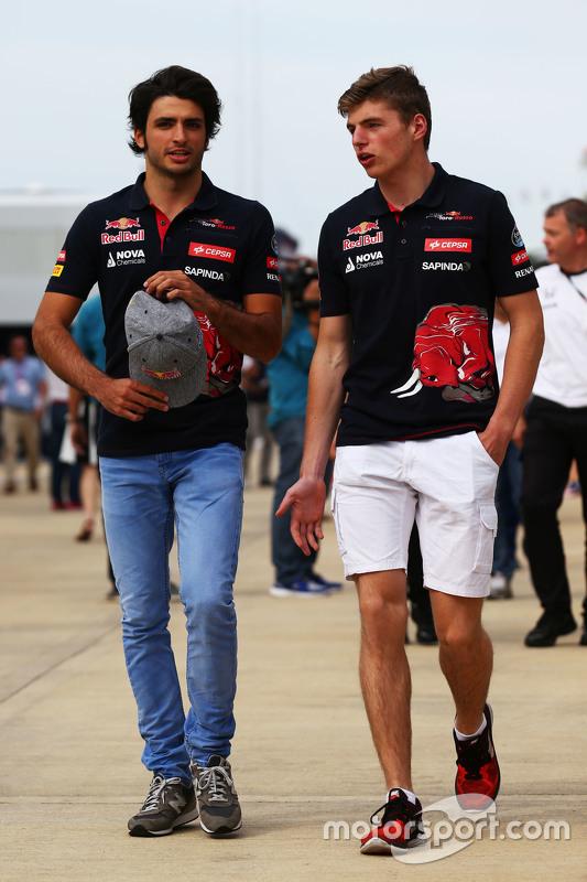 Carlos Sainz Jr., Scuderia Toro Rosso com Max Verstappen, Scuderia Toro Rosso