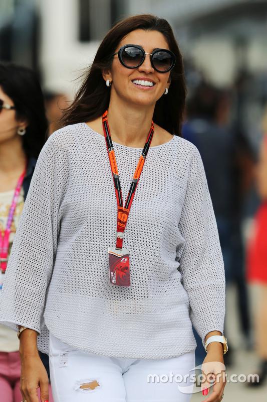 Fabiana Flosi, wife of Bernie Ecclestone,