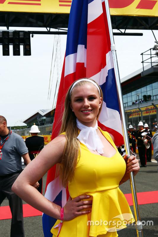 Chica de la parrilla GP de la Gran Bretaña