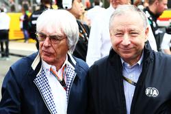 Bernie Ecclestone, con Jean Todt, Presidente de la FIA President