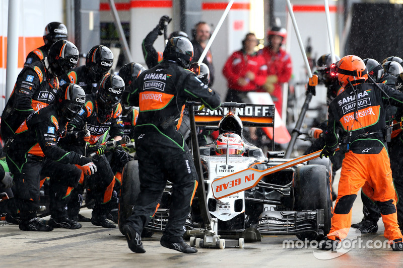 Ніко Хюлкенберг, Sahara Force India під час піт-стопа