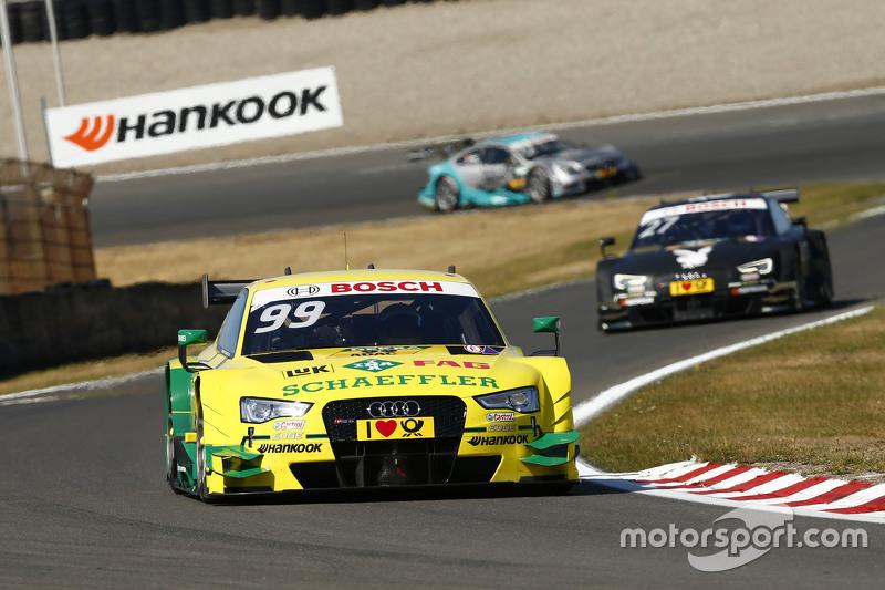 Mike Rockenfeller, Audi Sport Team Phoenix Audi RS5 DTM and Adrien Tambay, Audi Sport Team Abt Audi