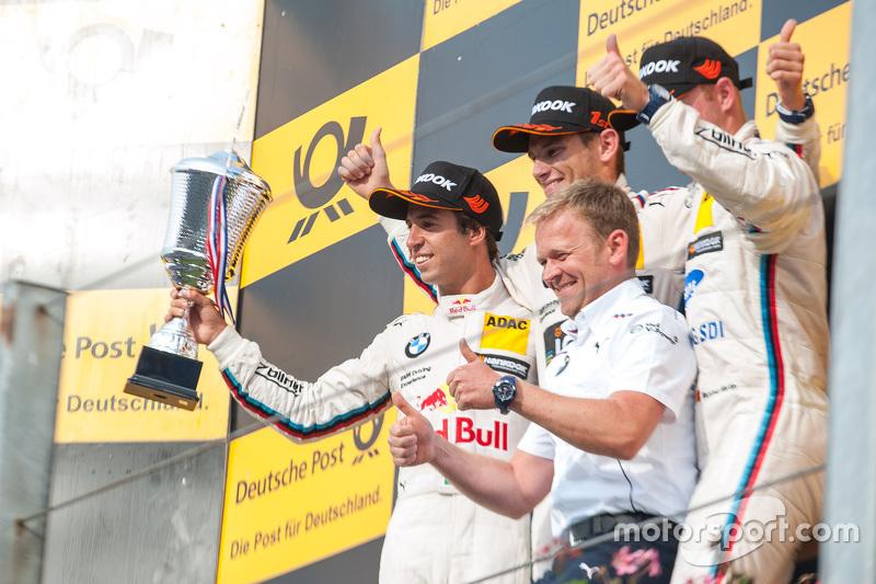 Podium: 2. Antonio Felix da Costa, BMW Team Schnitzer, BMW M4 DTM; 1. Marco Wittmann; 3. Maxime Mart