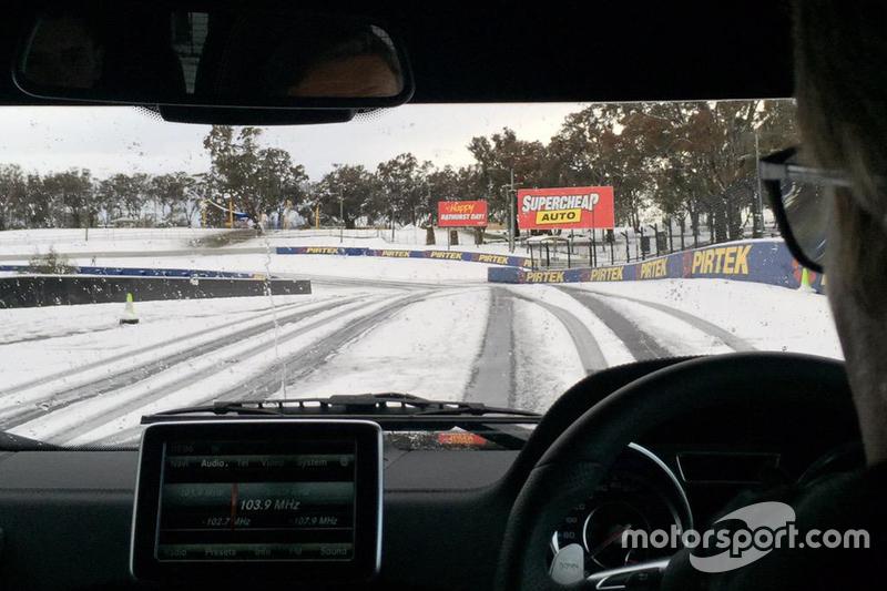 Bathurst bajo la nieve