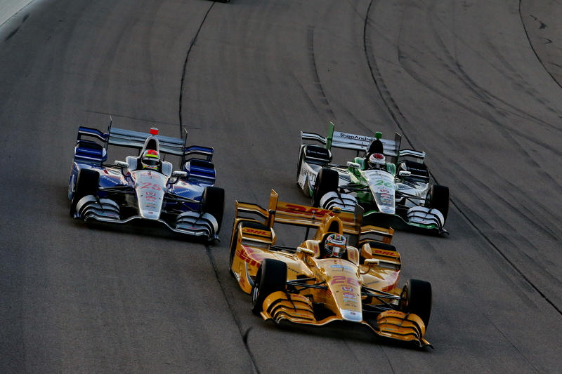 Ryan Hunter-Reay and Justin Wilson and Carlos Munoz, Andretti Autosport Hondas