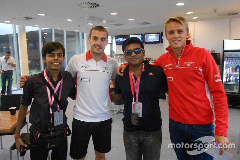 Darshan Chokhani, Jules Bianchi dan Max Chilton