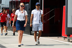 Felipe Massa, Williams with Sophie Eden, Williams Press Officer