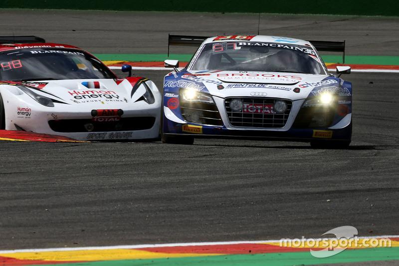 #36 Sainteloc Racing Audi R8 LMS Ultra: Mickael Blanchemain, Gilles Lallement