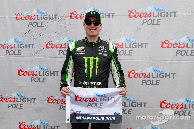 Pole winner Kyle Busch, Joe Gibbs Racing Toyota