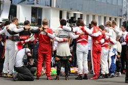 Pilotos durante el tributo a Jules Bianchi