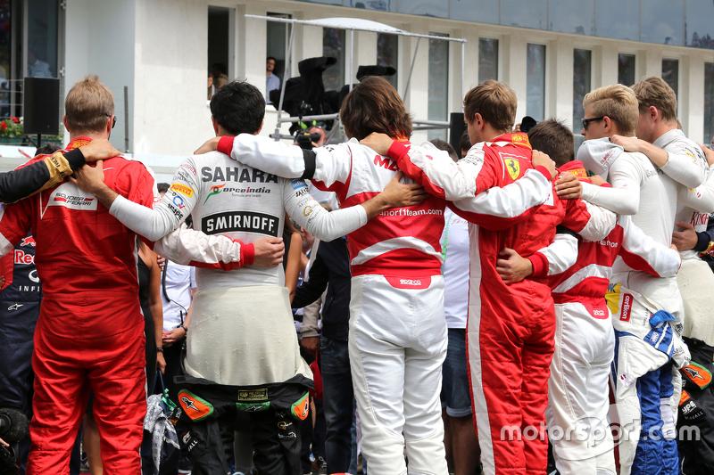 Schweigeminute für Jules Bianchi: Fahrer