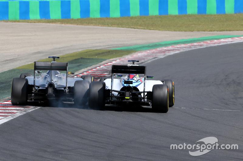 Lewis Hamilton, Mercedes AMG F1 Team; Felipe Massa, Williams F1 Team