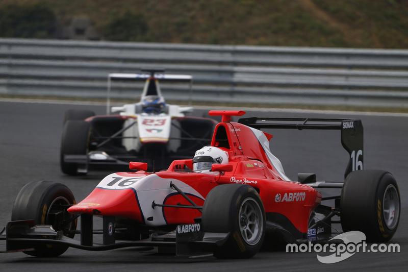 Aleksander Bosak, Arden International memimpin di depan Zaid Ashkanani, Campos Racing