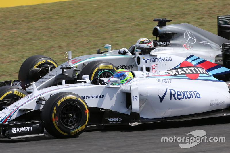 Felipe Massa, Williams F1 Team; Lewis Hamilton, Mercedes AMG F1 Team
