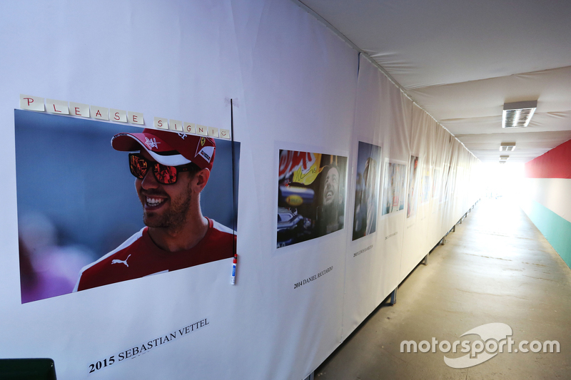 Sebastian Vettel, Ferrari added to the winners' wall