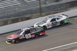 Kevin Harvick, JR Motorsports Chevrolet and Joey Gase, Jimmy Means Racing Chevrolet