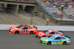 Justin Allgaier, HScott Motorsports Chevrolet, Austin Dillon, Richard Childress Racing Chevrolet and