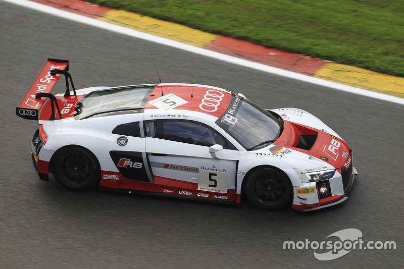 #5 Phoenix Racing Audi R8 LMS: Christian Mamerow, Christopher Mies, Nicki Thiim
