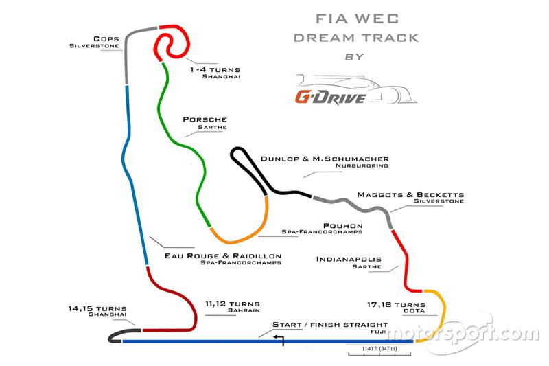 FIA WEC dream track by G-Drive Racing