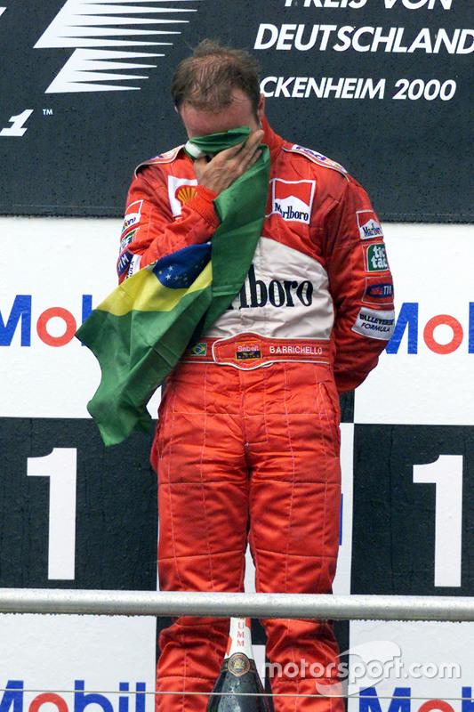 Winner Rubens Barrichello, Ferrari